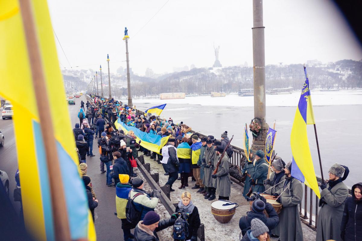 Патріоти проводять акцію в Києві / sobornist.org.ua/