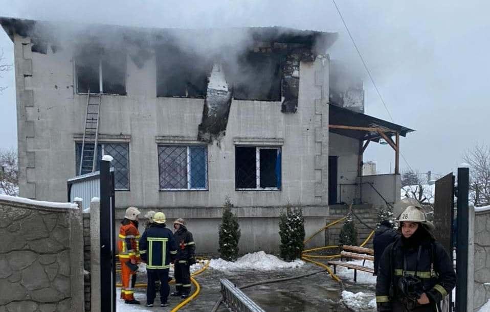 21 января в харьковском доме престарелых произошел пожар / фото t.me/V_Zelenskiy_official