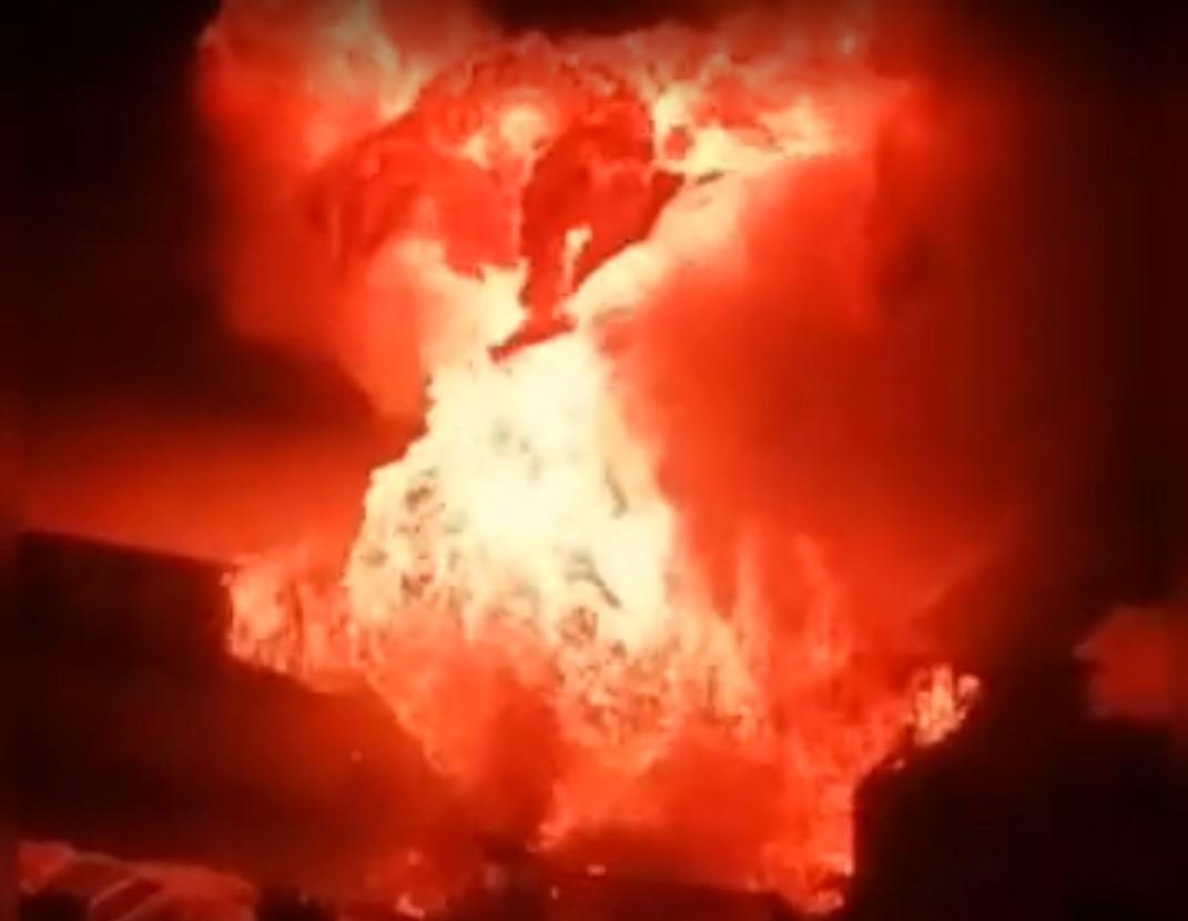 Вибух стався через розгерметизацію газового балона / скріншот з відео