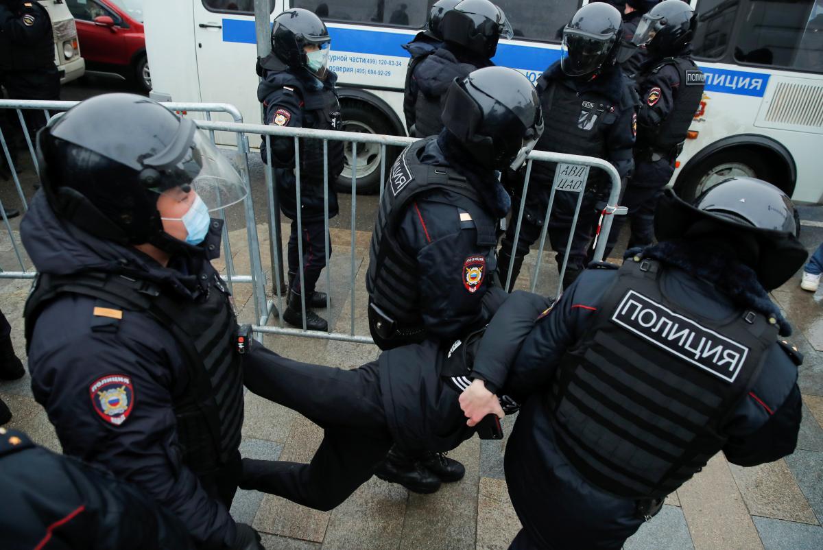 В России задерживают сторонников Навального / фото REUTERS