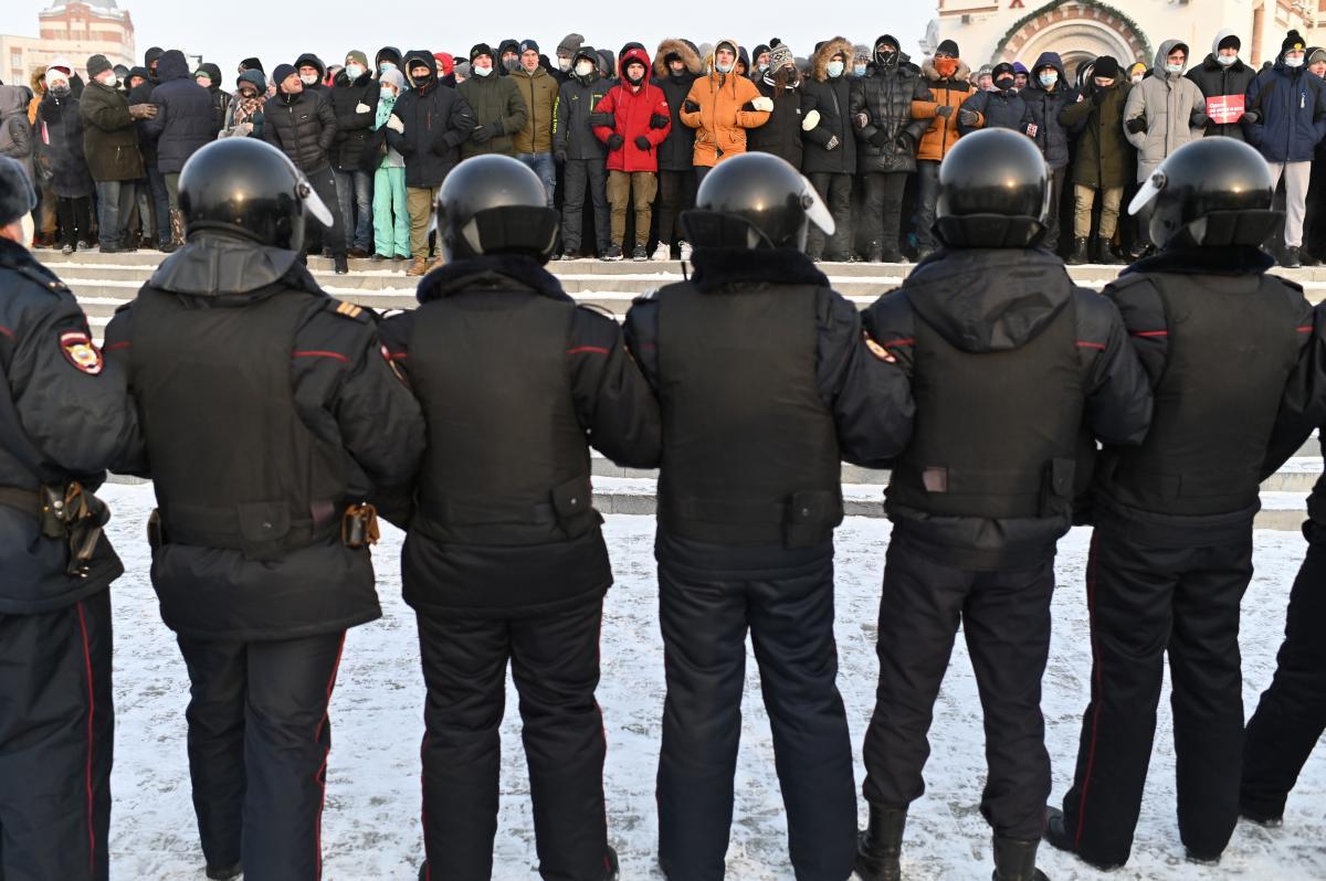 Amnesty International призывает Росгвардию не применять силу на митингах в РФ / фото REUTERS