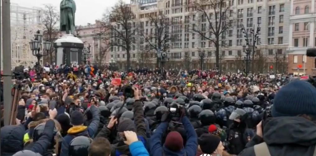 Протесты в России 23 января / REUTERS