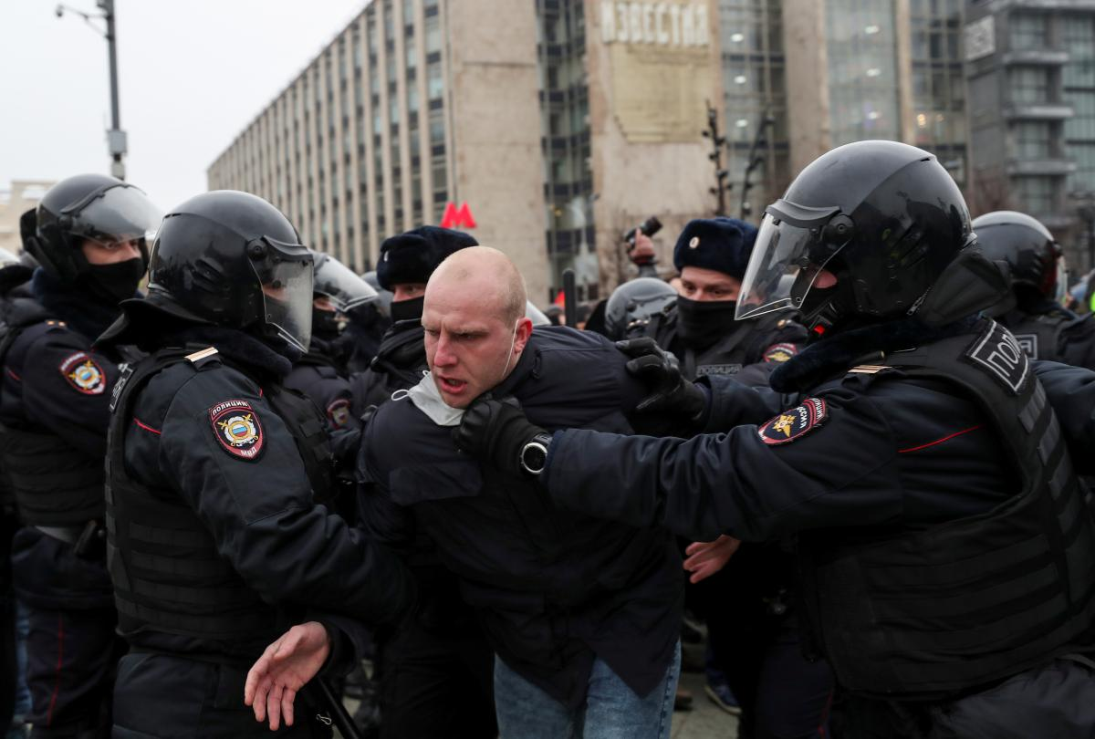 Протесты в России 23 января / фото REUTERS