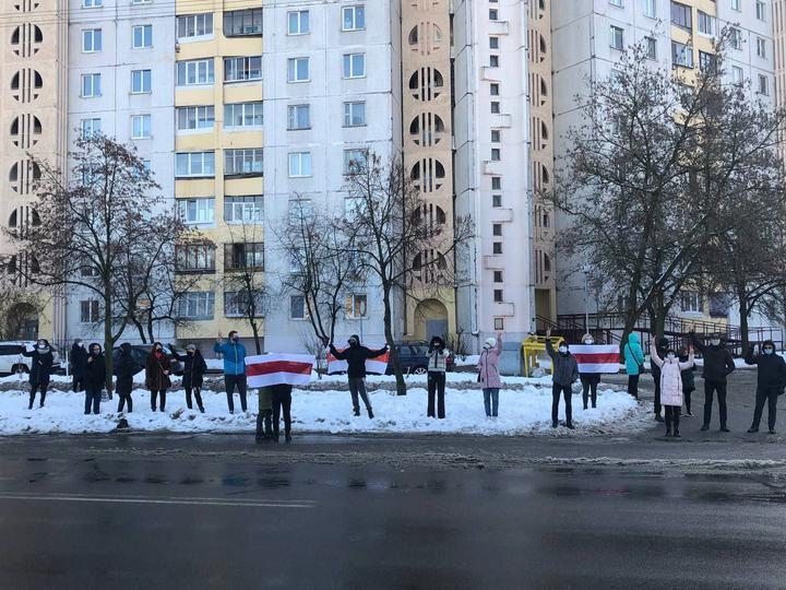Протести в Мінську 23 січня / фото TUT.by
