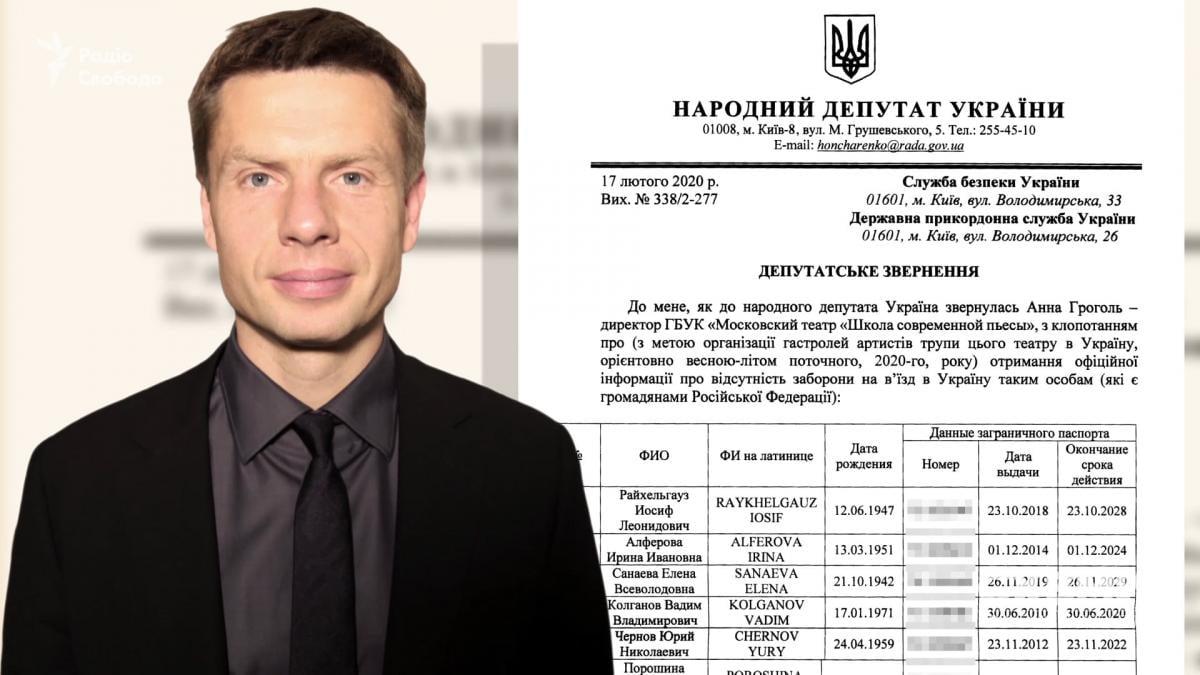 Олексій Гончаренко та його депутатський запит / Схеми