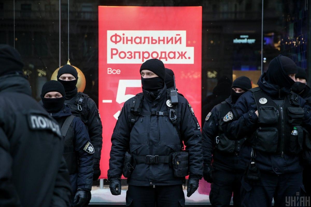 Полиция усилила охрану порядка в центре Киева/ фото УНИАН, Вячеслав Ратынский