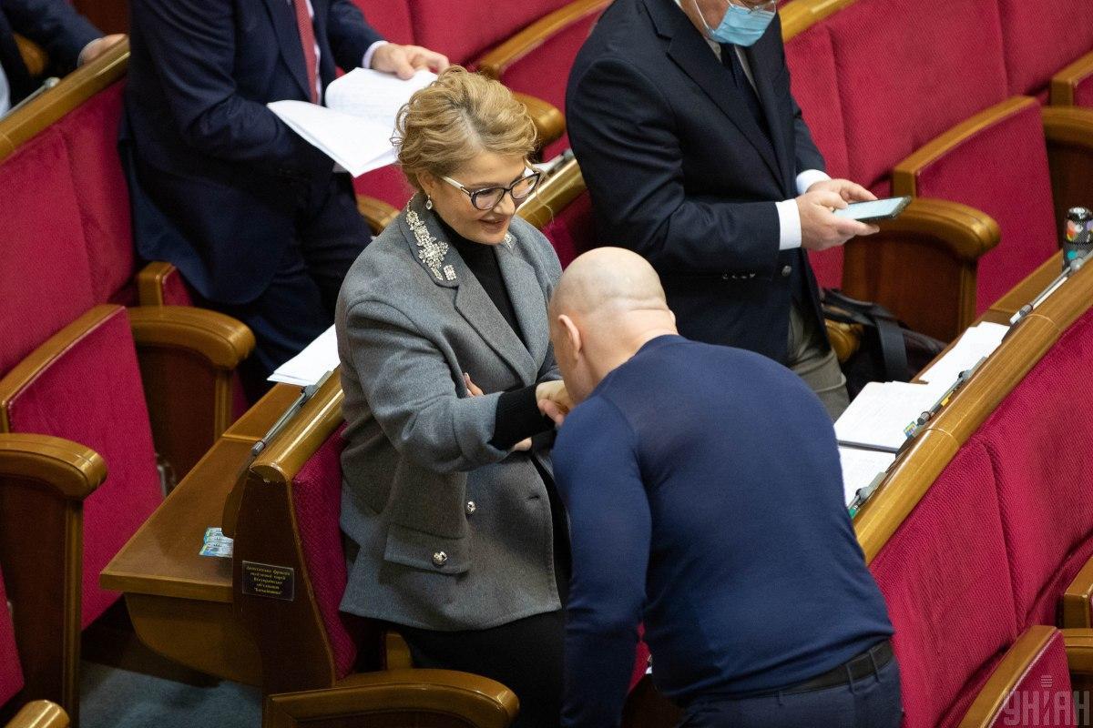 Тимошенко в новом образе / фото УНИАН