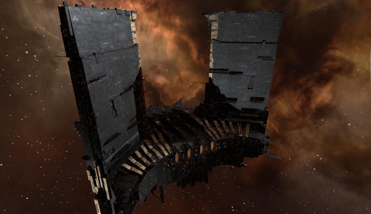 Вот так выглядит боевая станция класса Keepstar / фото CCP Games
