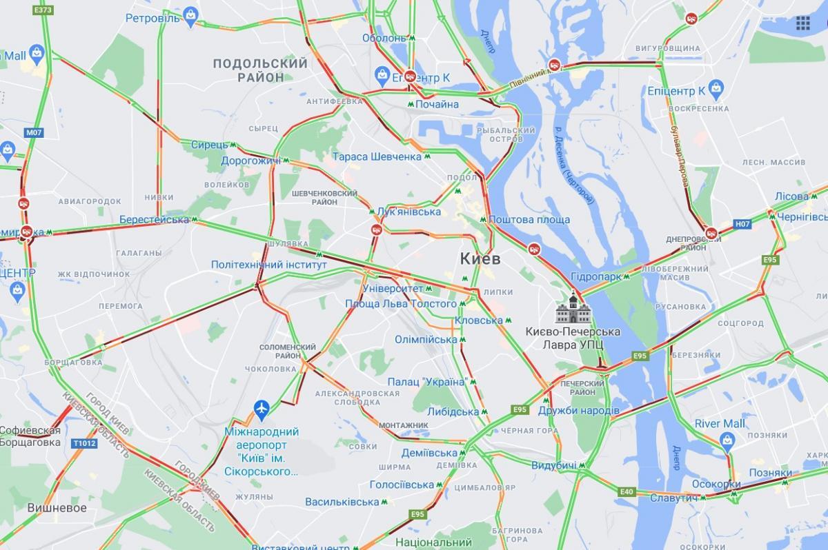 скриншо карты Google