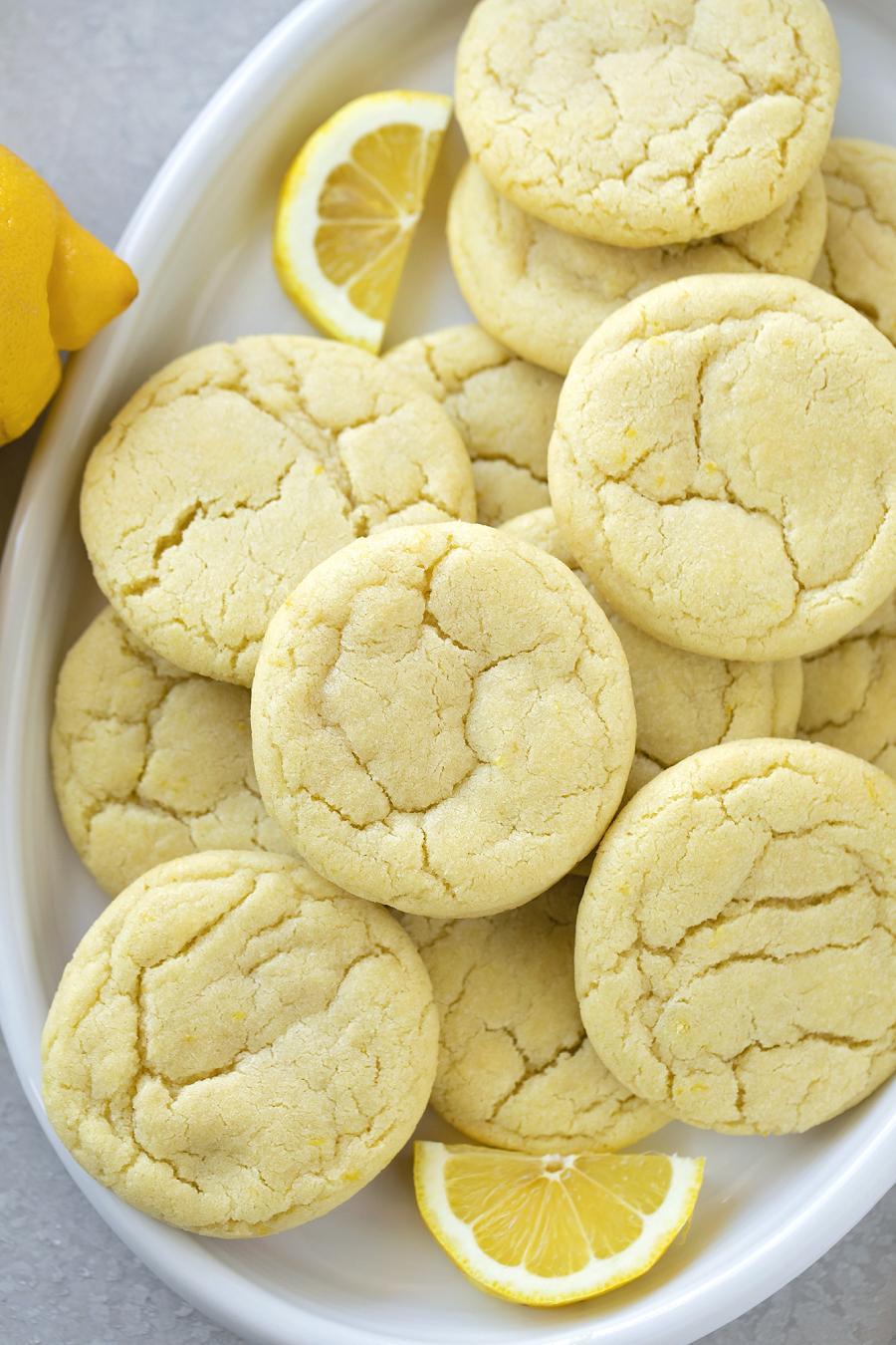 Лимонные печенья рецепт / фото lifemadesimplebakes.com