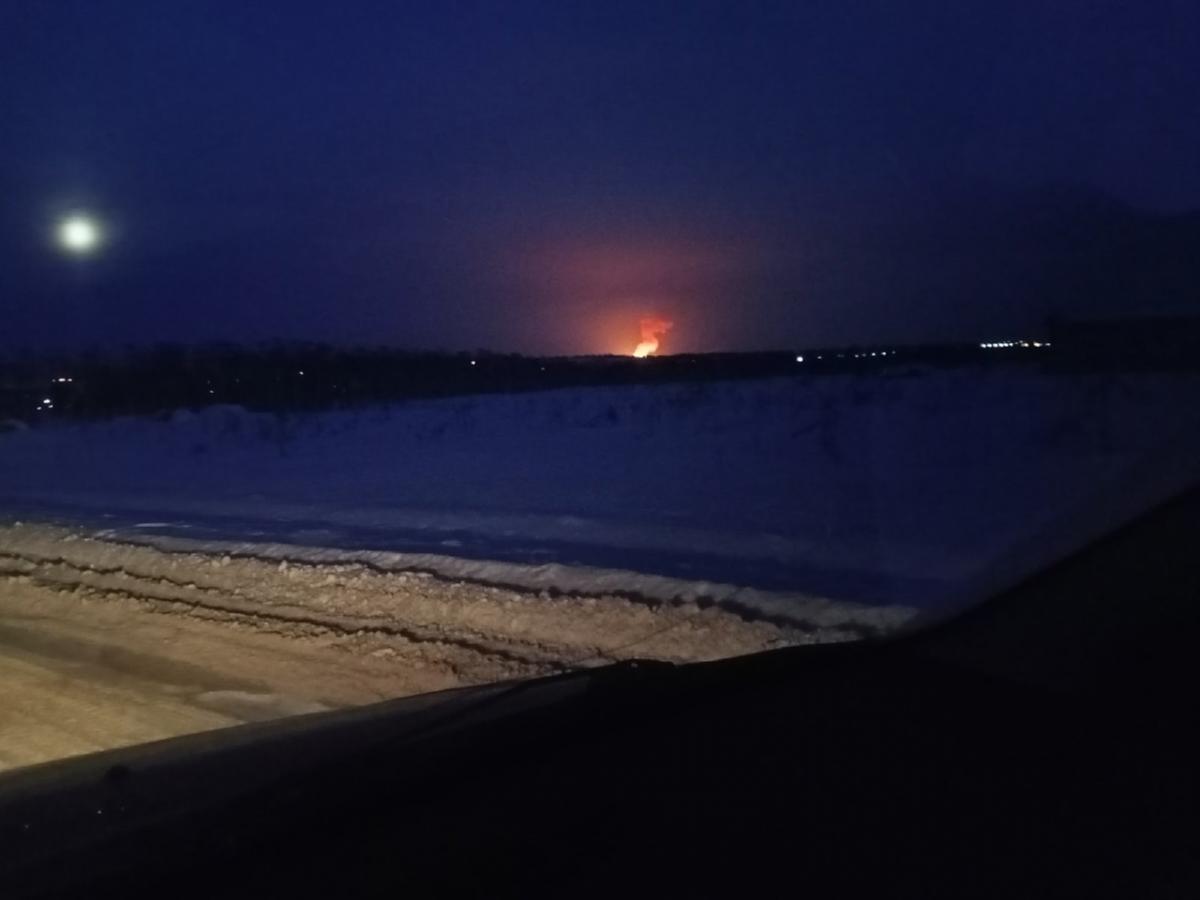 """Сначала был громкий взрыв, после чего в небе увидели """"яркий огненный гриб"""" / фото vk.com/vikiperm"""