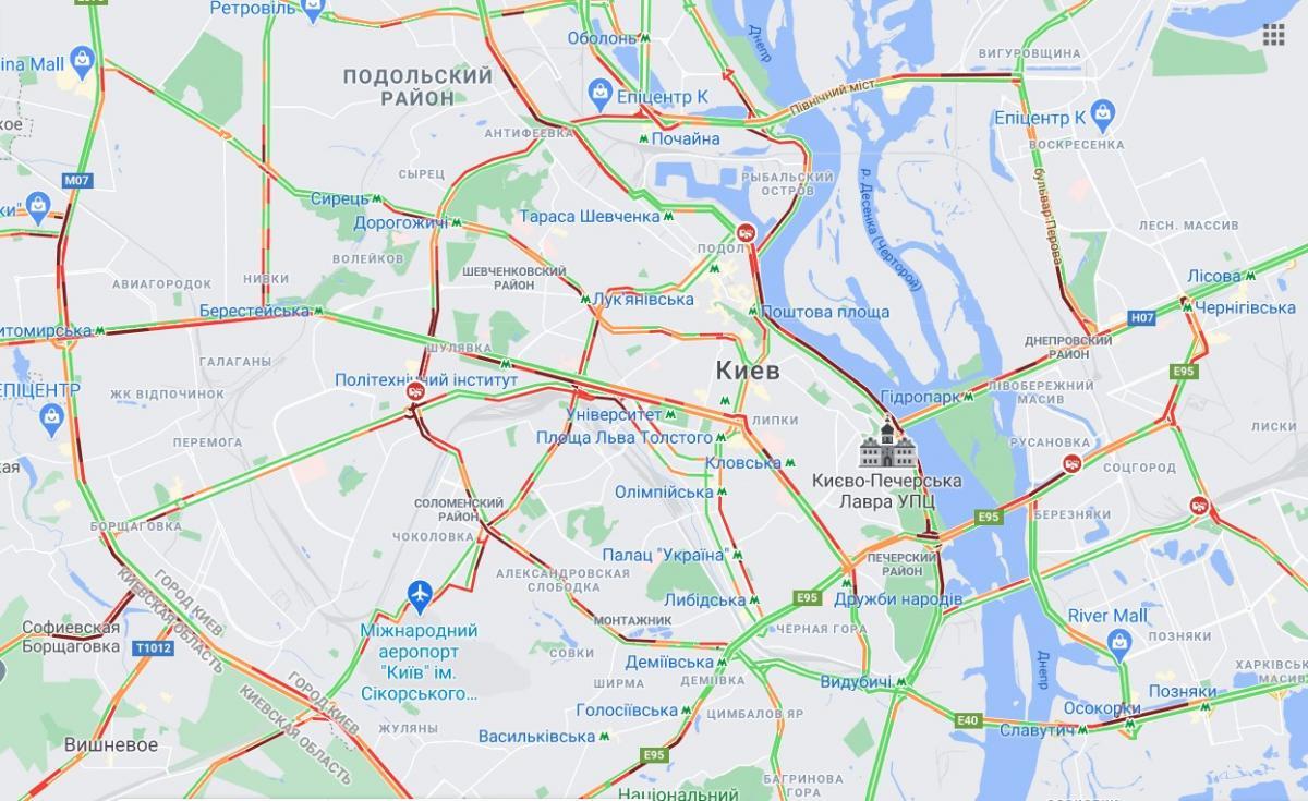 скріншот Карти Google