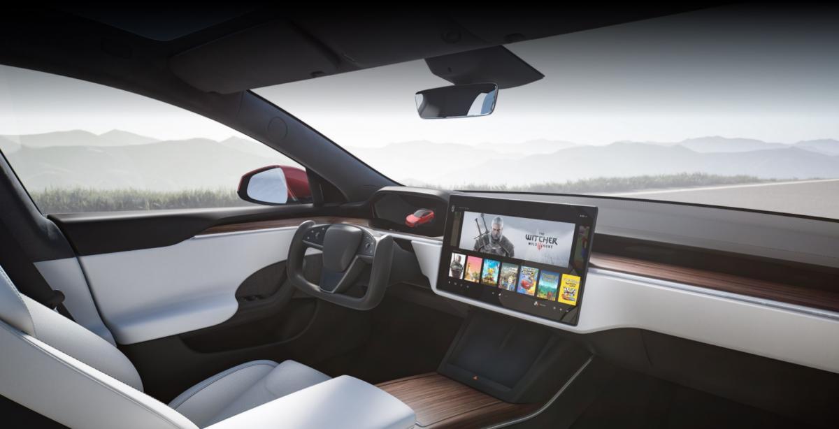 """В Model S также доступны """"Ведьмак 3"""" и другие игры /фото tesla.com"""