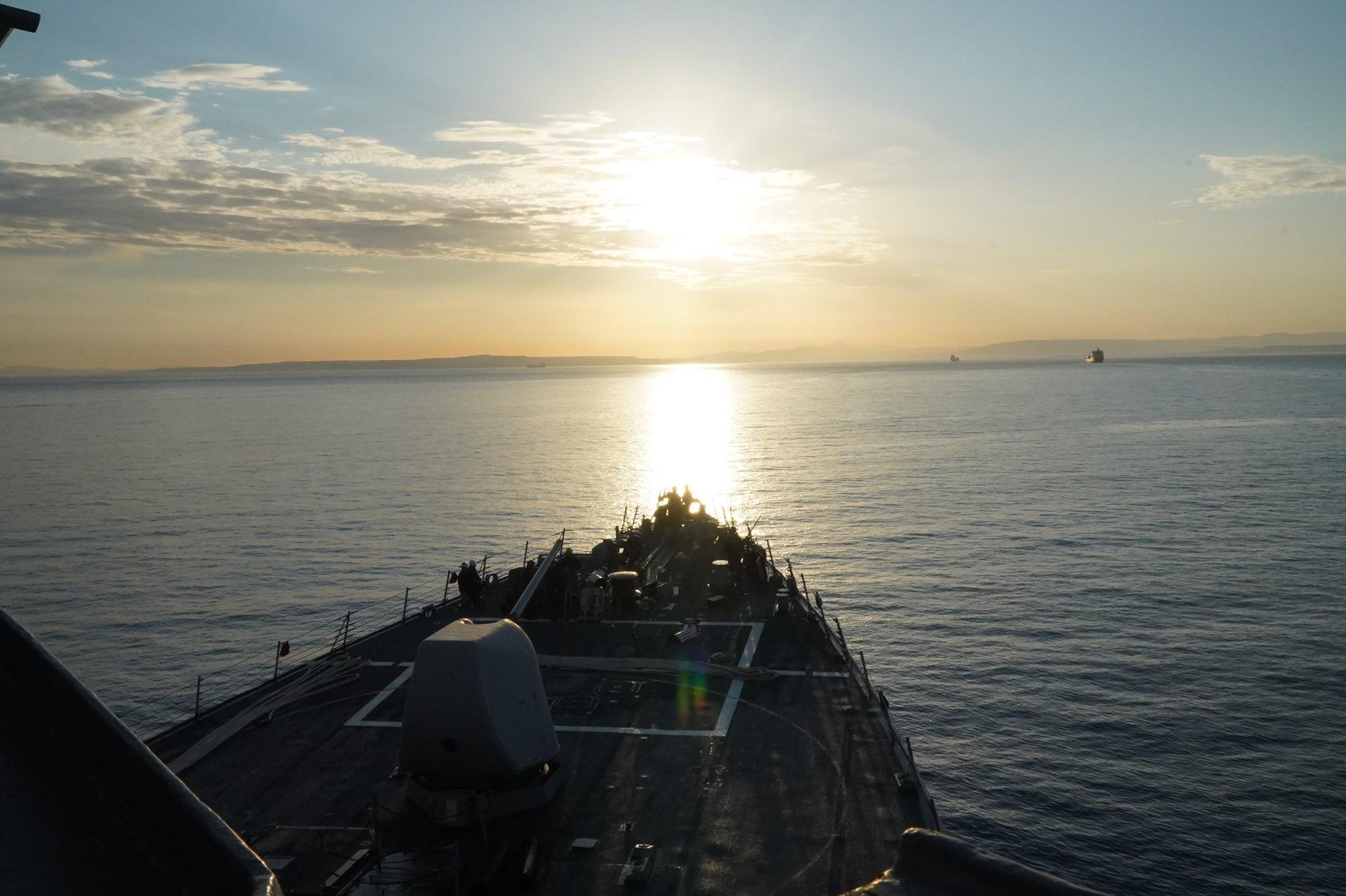 Эсминец USS Porter / фото twitter.com/USNavyEurope