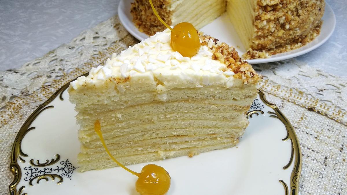 "Як приготувати торт ""Молочна дівчина"" / фото koolinar.ru"