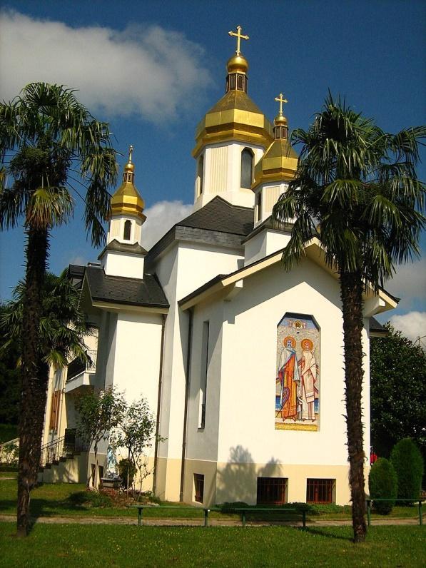 Український храм Успіння Пресвятої Богородиці в Лурді