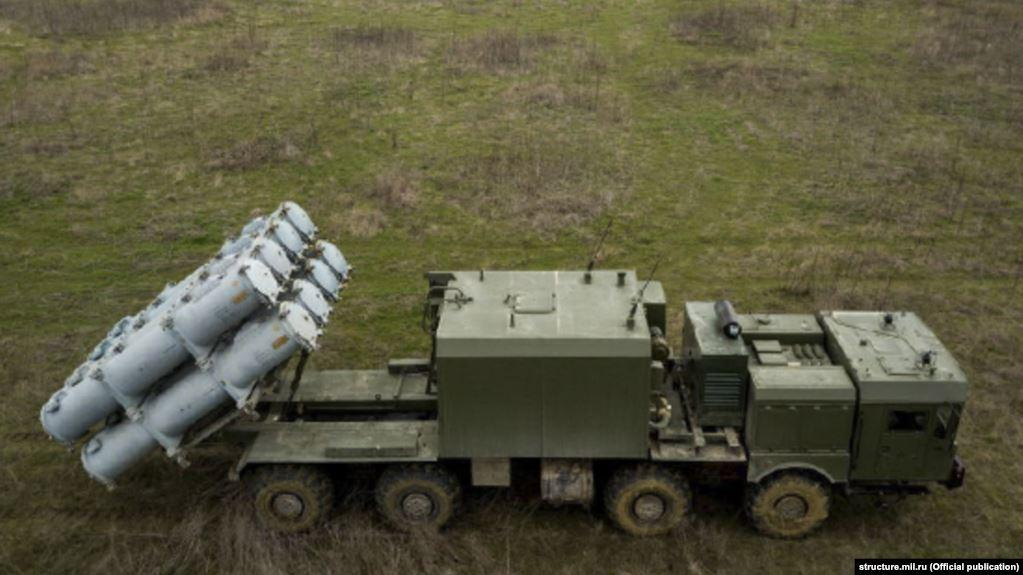Russia's occupation forces have deployed a coastal defense missile system / Photo fromstructure. mil.ru