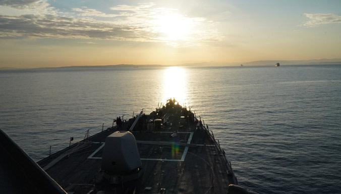 Эсминец ВМС США USS Porter вошел в Черное море / фото US Navy Europe