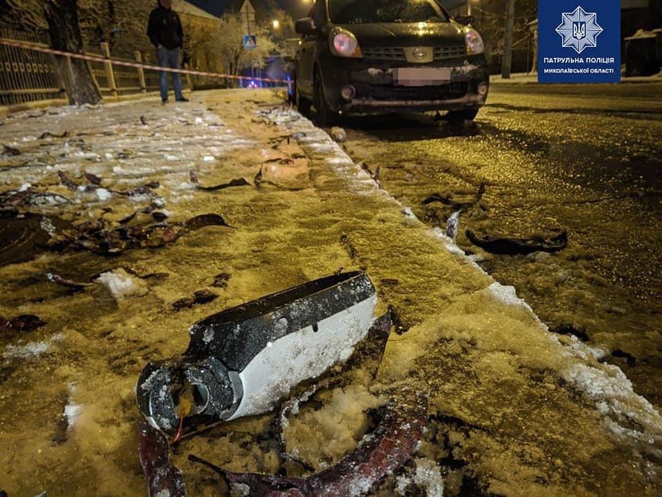 Водитель на большой скорости совершил наезд на патрульную / фото МВД Украины