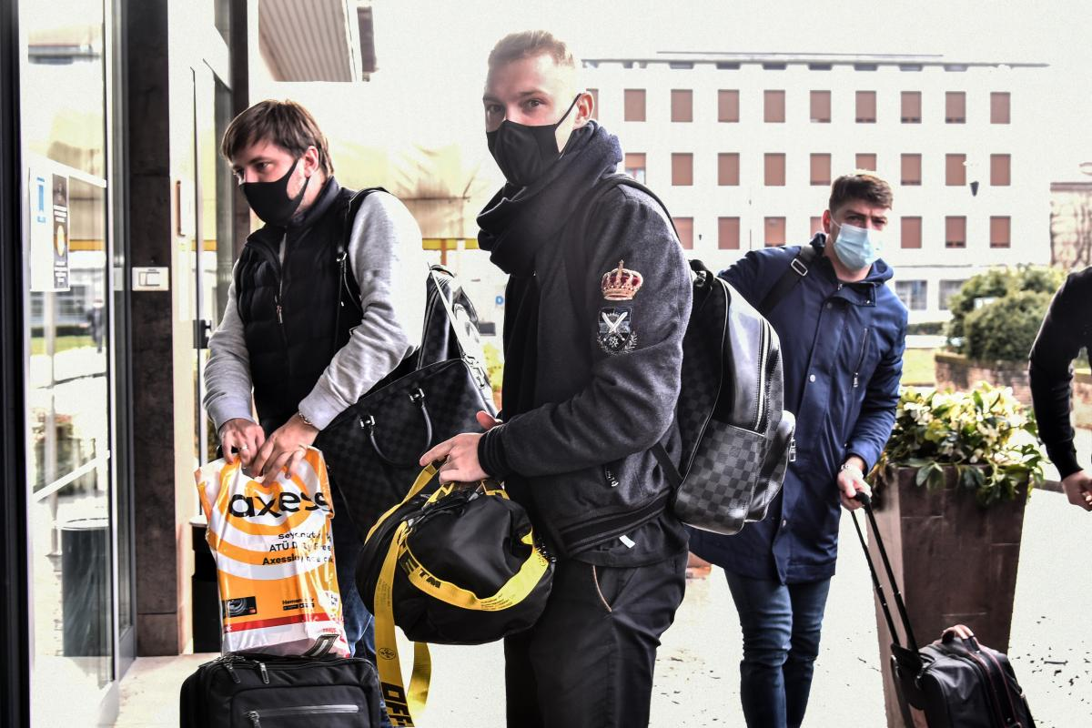 Виктор Коваленко со своими агентами в Бергамо / фото ecodibergamo.it
