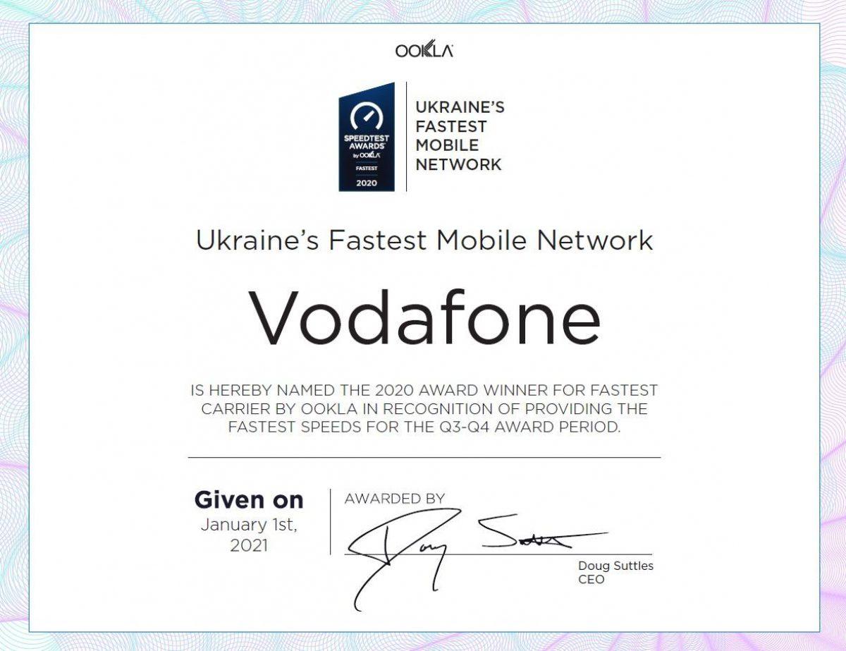 Самый быстрый мобильный интернет Украины-в Vodafone