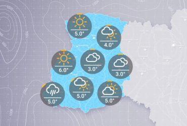 Прогноз погоди в Україні  на п'ятницю, ранок 22 січня