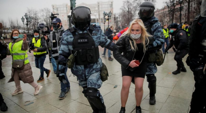 Over 2,000 detained in protests across Russia – media