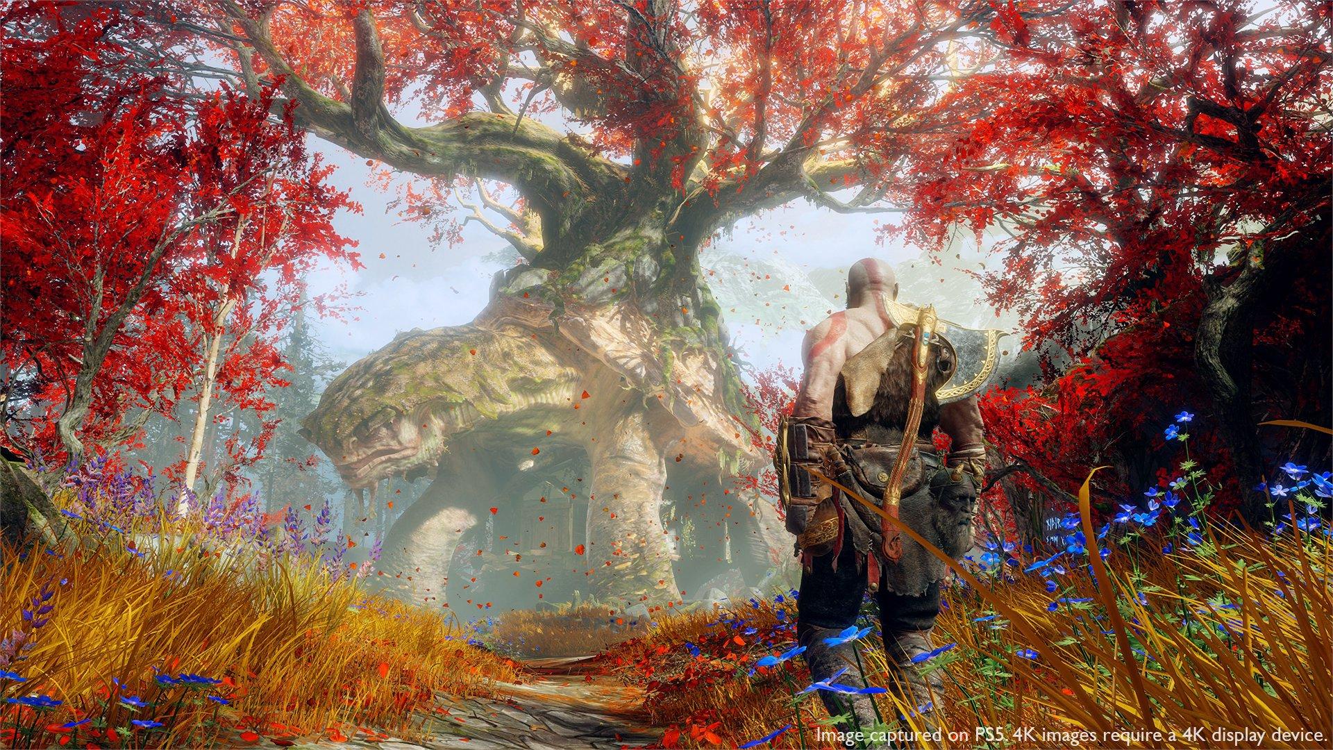 Так God of Wor будет выглядеть на PS5 / фото twitter.com/SonySantaMonica