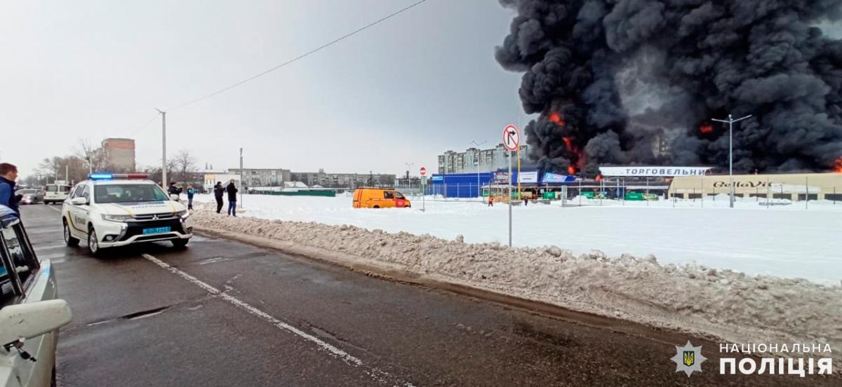 """У лютому неадекватний чоловік влаштував пожежу в гіпермаркеті """"Епіцентр"""" під Миколаєвом/ Нацполіція"""
