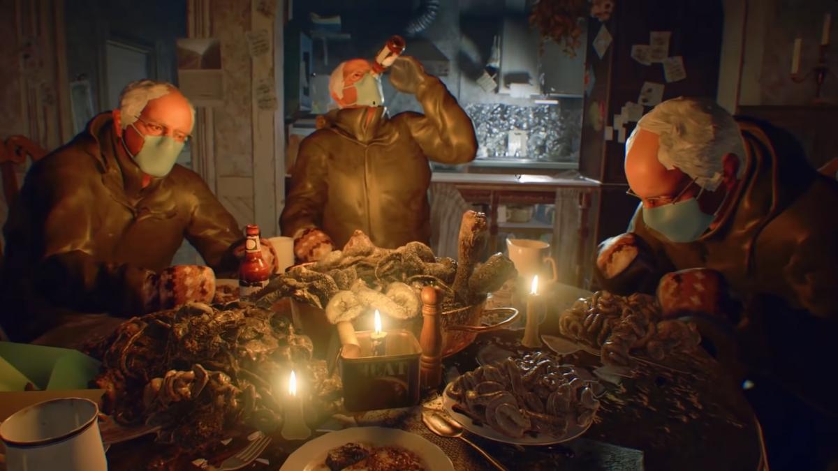 Сразу три Сандерса в Resident Evil 7 / скриншот