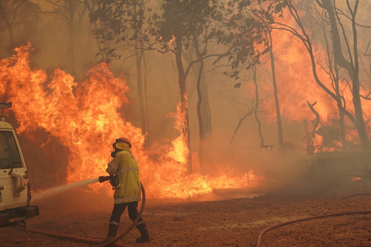 Сильный ветер осложняет работу пожарных / Фото REUTERS