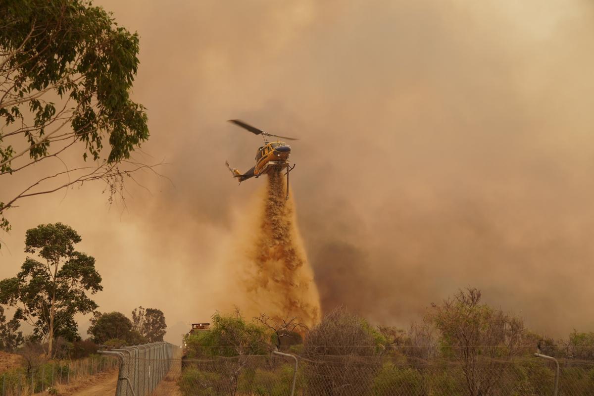 Пожар пытаются потушить с воздуха / Фото REUTERS