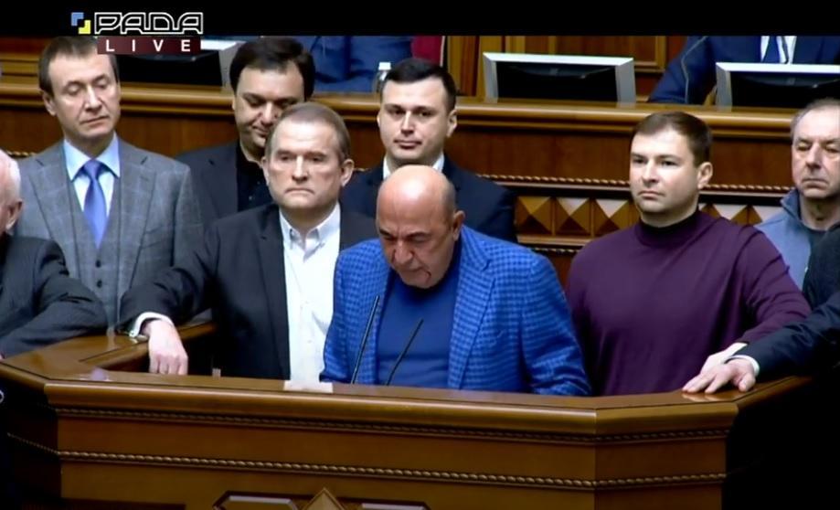 Pro-Russian Opposition Platform seeks Zelensky's impeachment over TV sanctions / Screenshot