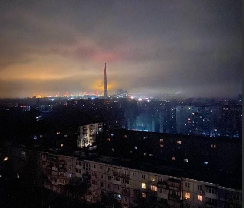 На Запорожской ТЭС произошла авария / фото Telegram Шептун