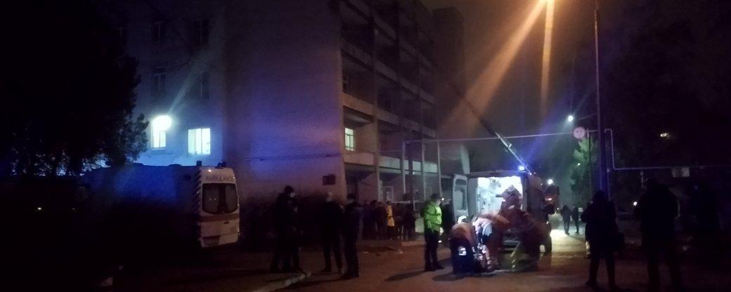 В Запорожье произошел пожар в инфекционной больнице / фото Общественное Запорожье
