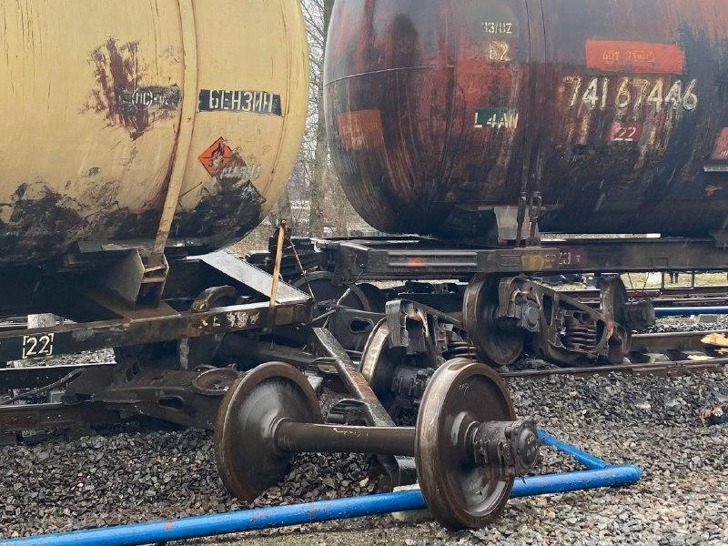 Инцидент произошел во время маневровых работ с пустыми вагонами нерабочего парка / фото УНИАН Олег Булашев