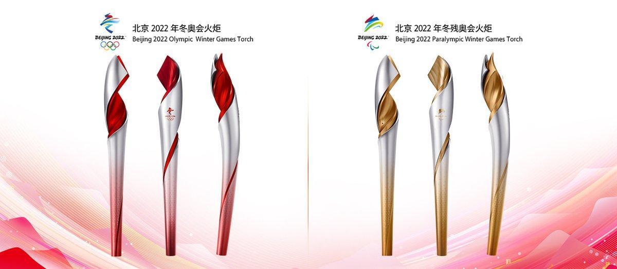 Факелы Олимпийских и Паралимпийских игр / twitter.com/beijing2022