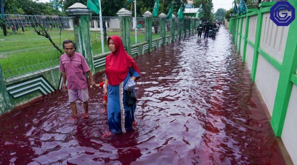 Чиновники утверждают, что красная вода не опасна для людей и экологии /фото OCG.org.ua
