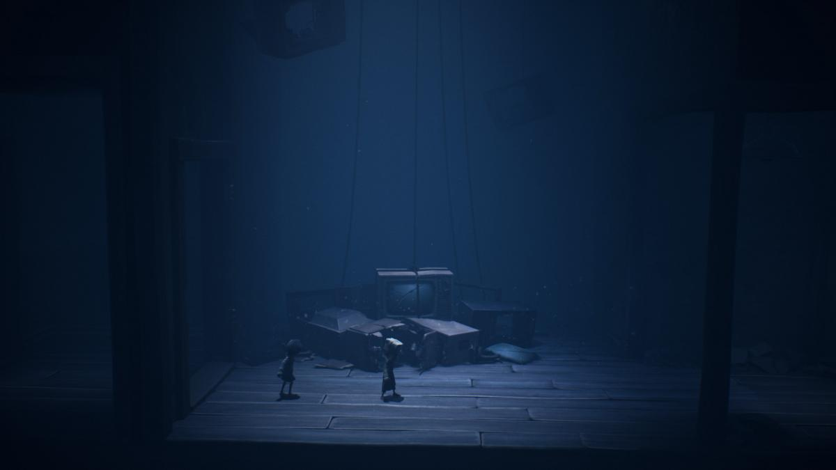 Странные образы в Little Nightmares 2 встречаются почти на каждом шагу / скриншот