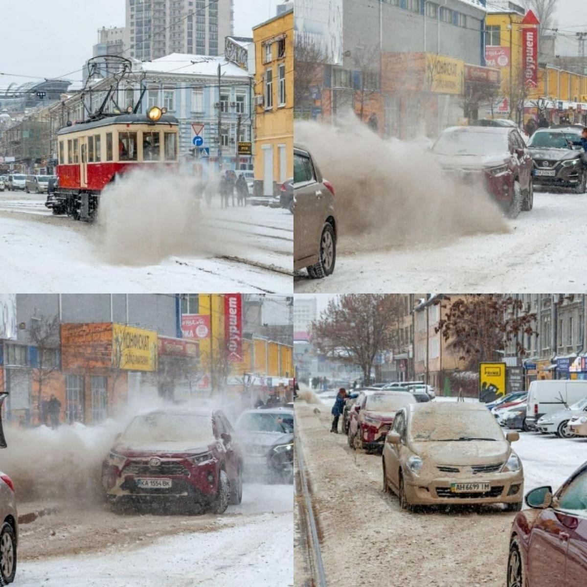 Спецвагон явно невзлюбили водители / фото Киев сейчас