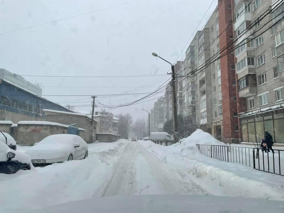Снегопад во Львове / фото Igor Zinkevych