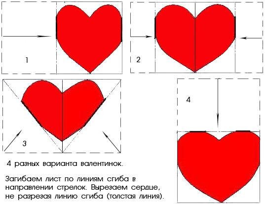 Валентинка из бумаги / фото pinterest.com