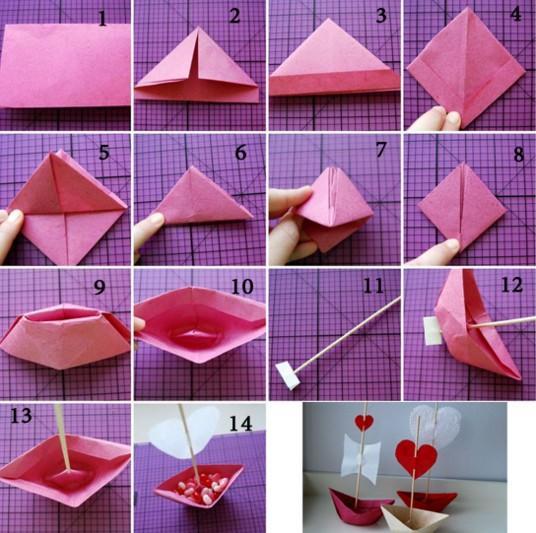 Кораблик оригами / фото pinterest.com