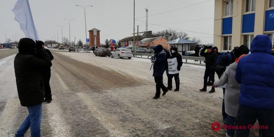 Пробок на месте протеста не было \ odessa.online