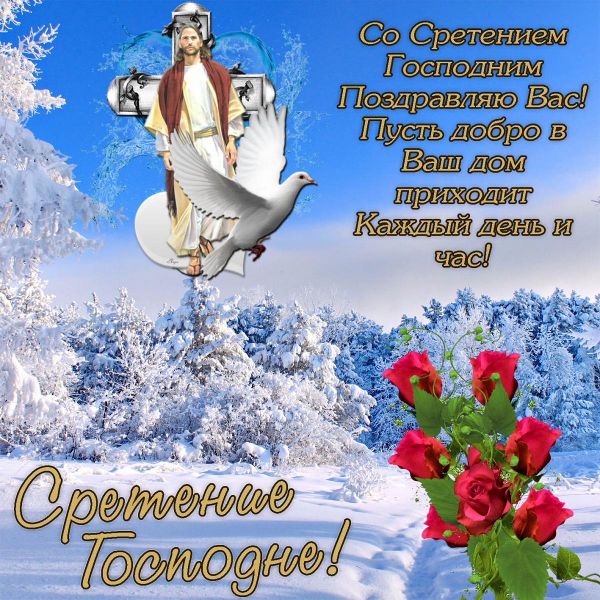 Со Сретением Господним поздравления / фото bonnycards.ru