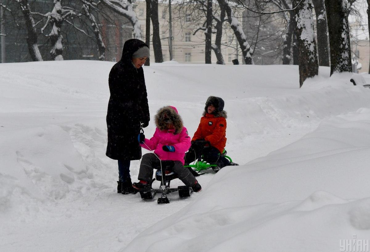Киев накрыл сильный снегопад / Фото УНИАН, Валерий Шмаков