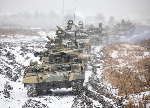 Російські війська випробовують нові БМПТ / Міноборони РФ