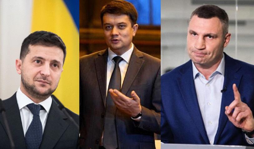 Zelensky, Razumkov, Klitschko top the rating / Image from UNIAN