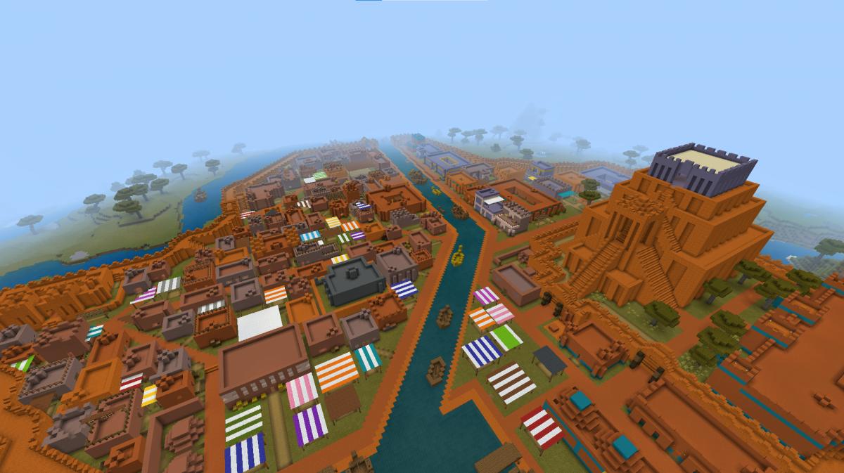 Энтузиаст сампостроил целый город/фото reddit.com/r/Minecraft