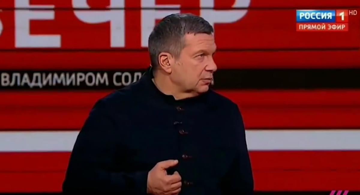 """Соловьев хвалит Гитлера на канале """"Россия 1"""" / Скриншот"""